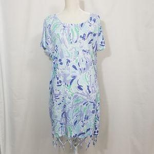 Lilly Pulitzer Beachcomber Linen Dress Nice Ink
